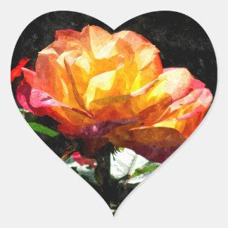 Rose Heart Sticker
