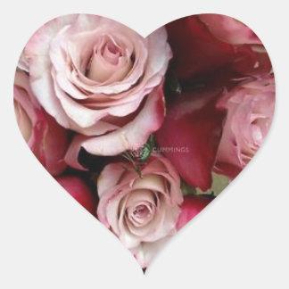 Rose Heart Wedding Stickers