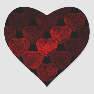 Rose Hearts Stickers