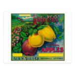 Rose Hill Apple Crate LabelWatsonville, CA Post Card