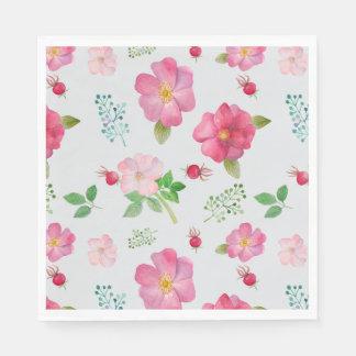 Rose Hip Garden Pattern Disposable Serviette