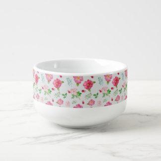 Rose Hip Garden Pattern Soup Mug