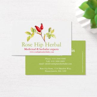 Rose hip herbalists medicinal business card
