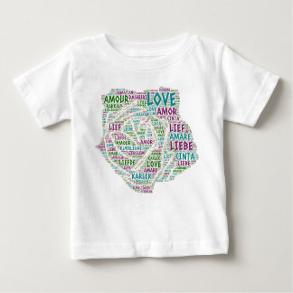 Rose illustrated with Love Word Baby T-Shirt