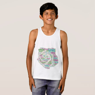 Rose illustrated with Love Word Singlet