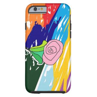 Rose in a landscape tough iPhone 6 case