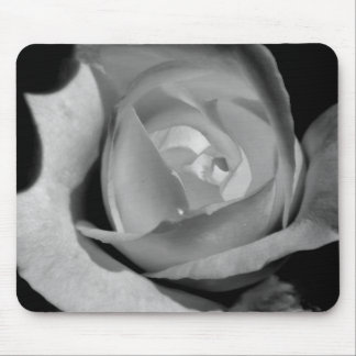 Rose in black and white mouse pad