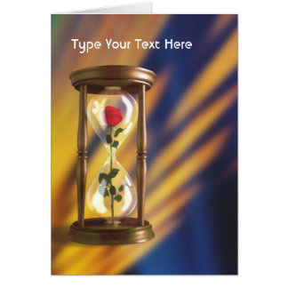 Rose In Hourglass Card