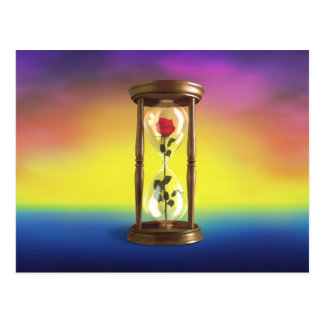 Rose in Hourglass Postcard