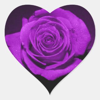 rose in purple heart stickers
