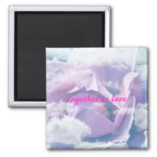 rose into the clouds fridge magnet