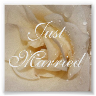 rose, Just Married, Photo by: TEYoung Poster
