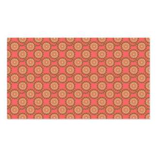 Rose & Khaki Whimsical Buttons Custom Design Double-Sided Standard Business Cards (Pack Of 100)