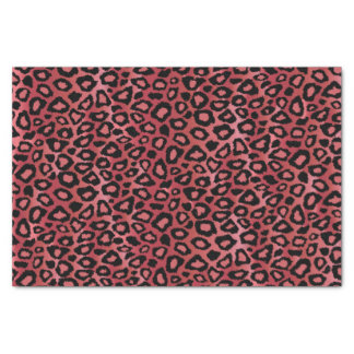Rose Leopard Design Pattern Tissue Paper