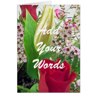 Rose & Lily Bud-customize Card