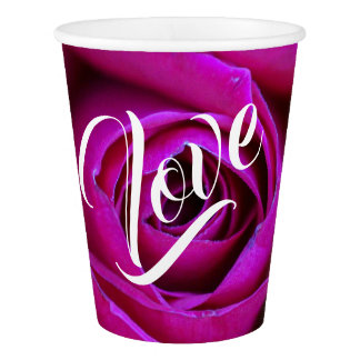 Rose Love Paper Cup
