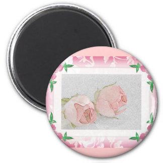 Rose magnet...Wedding Favor 6 Cm Round Magnet