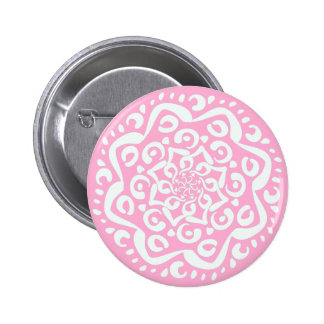 Rose Mandala 6 Cm Round Badge