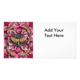 Rose Mandala Customized Photo Card