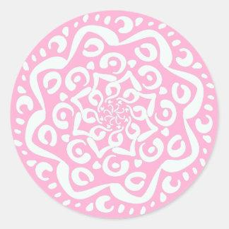 Rose Mandala Round Sticker