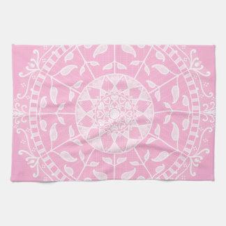 Rose Mandala Tea Towel