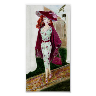 Rose: Matisse Doll Fashion Poster