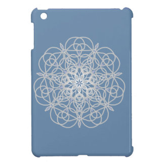 Rose medallion in soft silver iPad mini cover