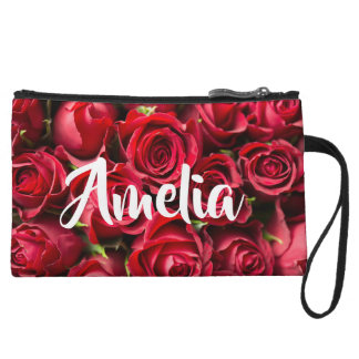Rose Mini Clutch with custom name