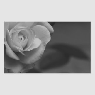 Rose monochrome photographed by Tutti Rectangular Sticker