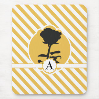 Rose Monogram Mouse Pad