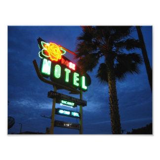 Rose Motel neon sign Photograph