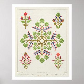 Rose motif wallpaper design, printed by M. & N. Ha Print
