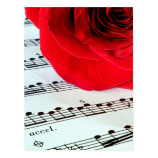 Rose & Music -Music Lover Postcard