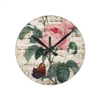 Rose Music Wall Clocks
