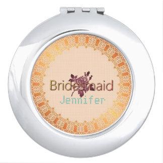 Rose-Needlepoint_Bridesmaid-Monogram-OBBN Vanity Mirrors