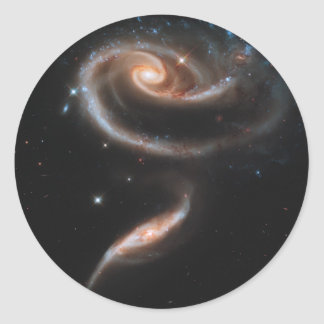 Rose of Galaxies Classic Round Sticker