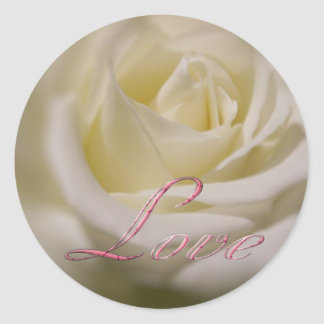 Rose of Love Classic Round Sticker