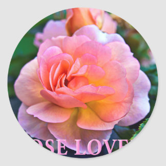 ROSE OF LOVER CLASSIC ROUND STICKER