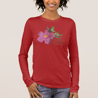 Rose of Sharon long sleeve dark t-shirt (2 sides)