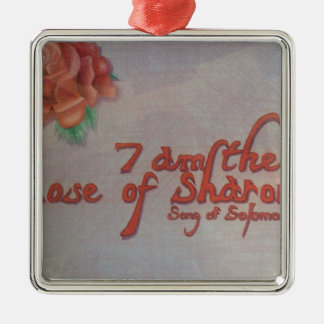 rose of sharon Silver-Colored square decoration
