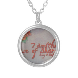 rose of sharon silver plated necklace