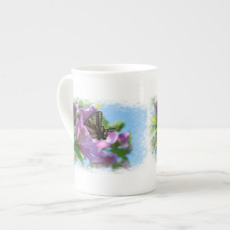 Rose of Sharon with Butterfly Tea Cup
