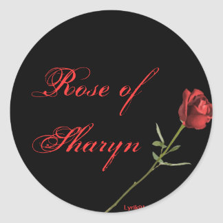 Rose of sharyn round sticker