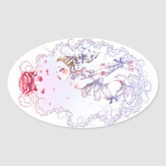 Rose of Versailles Oval Sticker