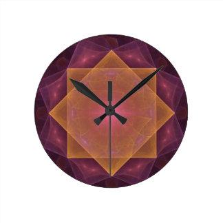 Rose of wind round clock