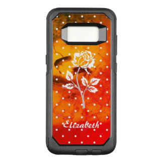 Rose on amber background OtterBox commuter samsung galaxy s8 case