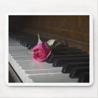 Rose on Piano Mouse Pad