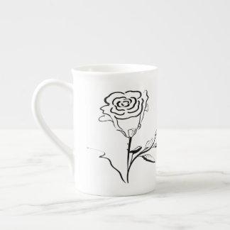 Rose Outline Drawing Specialty Mug