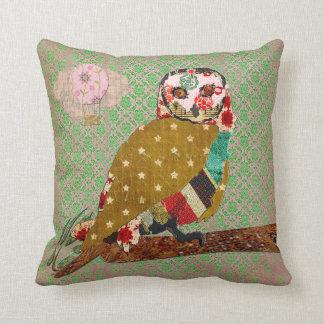Rose Owl Boho Damask Mojo Pillow Throw Cushions