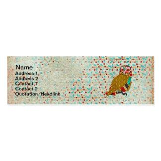 Rose Owl Floral Vintage Business Cards
